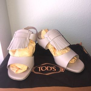 TODS Sandals Sandalo Cuoio Frangia